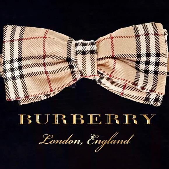 947d81542b21 Burberry Accessories | Nova Check Mens Self Tie Bow Tie | Poshmark